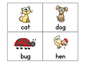 Word Work Task Cards with Pictures