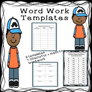 Word Work Templates
