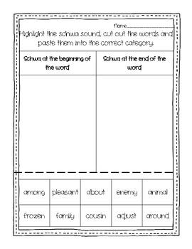 Word Work: The Schwa Sound