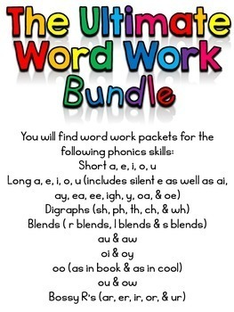 Word Work (The Ultimate Bundle)