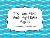 Word Work: The -ank Word Family Piggy Bank Project