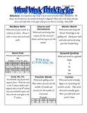 Word Work Think-Tac-Toe