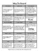 Word Work: Tic Tac Know Board