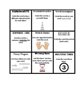 Word Work Tic-Tac-Toe Task Cards