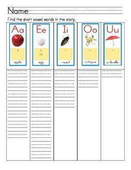 "Word Work- Treasures First Grade Unit 2 Week 2 Decodable 3 ""Hen's Eggs"""