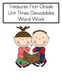 Word Work- Treasures First Grade Unit 3 Decodables- COMPLE