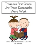 """Word Work= Treasures First Grade Unit 3 Week 2 Dec. 3 """"Job Times For The Pines"""""""