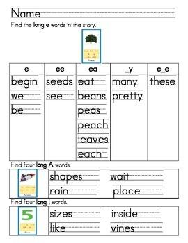 "Word Work- Treasures First Grade Unit 4 Week 2 Dec 4 ""Plants Grow From Seeds"""