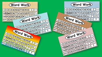 Word Work Typing Daily 5