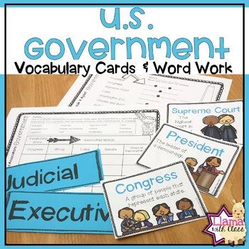 U.S. Government Vocabulary Activities
