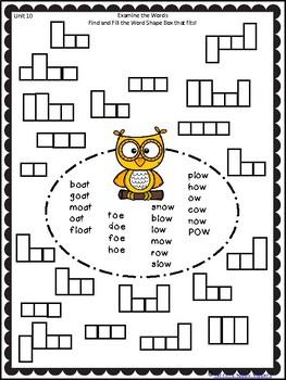 Word Work - Unit 10 - Weeks 1, 2, and 3