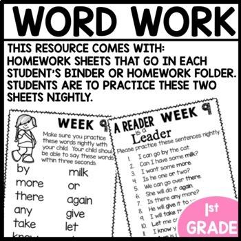 Word Work (Unit 3 Week 1)