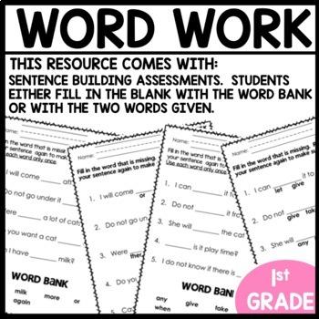 Word Work | UNIT 3 Week 9 | ELA Worksheets | Center Games and Activities