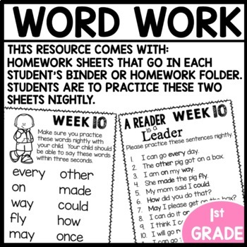 Word Work (Unit 3 Week 2)