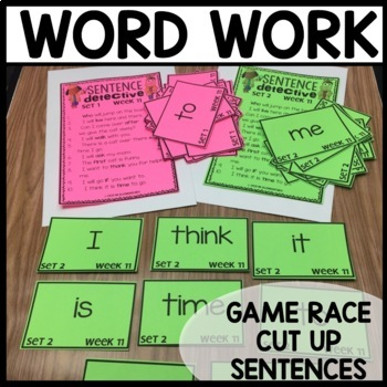 Word Work | UNIT 3 Week 11 | ELA Worksheets | Center Games and Activities
