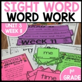 Word Work | UNIT 3 Week 11 | ELA Worksheets | Center Games