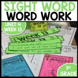 Word Work | UNIT 4 Week 13 | ELA Worksheets | Center Games
