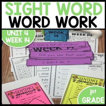 Word Work (Unit 4 Week 2)