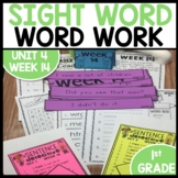 Word Work | UNIT 4 Week 14 | ELA Worksheets | Center Games