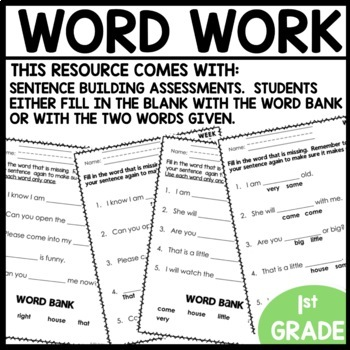 Word Work (Unit 4 Week 3)