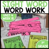 Word Work | UNIT 4 Week 15 | ELA Worksheets | Center Games