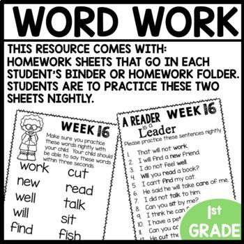 Word Work (Unit 4 Week 4)