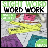Word Work | UNIT 4 Week 16 | ELA Worksheets | Center Games