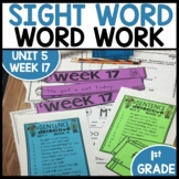 Word Work | UNIT 5 Week 17 | ELA Worksheets | Center Games