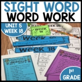 Word Work | UNIT 5 Week 18 | ELA Worksheets | Center Games