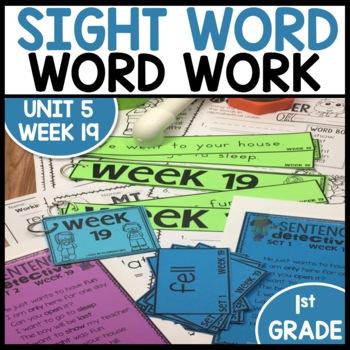 Word Work (Unit 5 Week 3)
