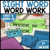 Word Work | UNIT 5 Week 19 | ELA Worksheets | Center Games