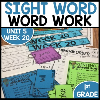 Word Work (Unit 5 Week 4)