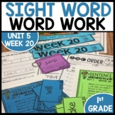 Word Work | UNIT 5 Week 20 | ELA Worksheets | Center Games
