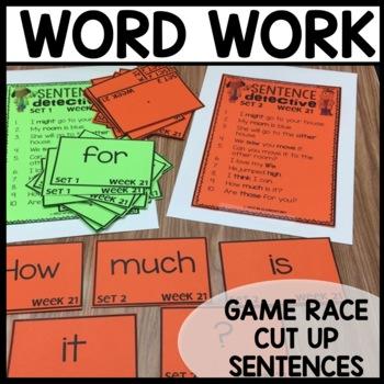 Word Work (Unit 6 Week 1)