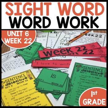 Word Work (Unit 6 Week 2)