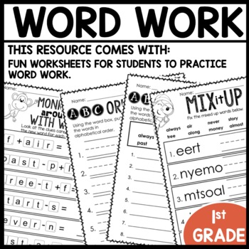 Word Work (Unit 6 Week 4)