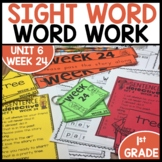 Word Work | UNIT 6 Week 24 | ELA Worksheets | Center Games