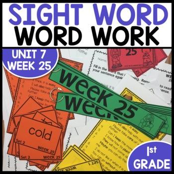Word Work (Unit 7 Week 1)