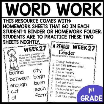 Word Work (Unit 7 Week 3)