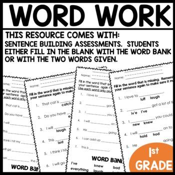 Word Work | May Week 29 | ELA Worksheets | Center Games and Activities