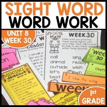 Word Work (Unit 8 Week 2)