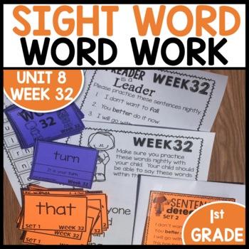 Word Work (Unit 8 Week 4)