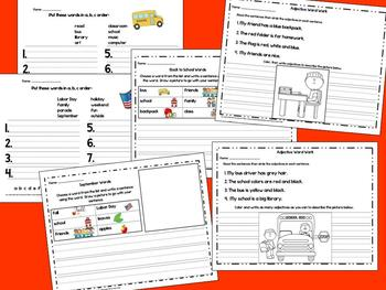 Word Work Unit for August & September - Back to School
