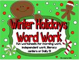 Word Work Unit/Word fun for Winter Holidays Snowmen, Ginge
