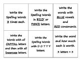 Word Work- Using Spelling Words