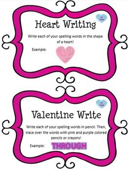 Word Work Task Cards - VALENTINES DAY