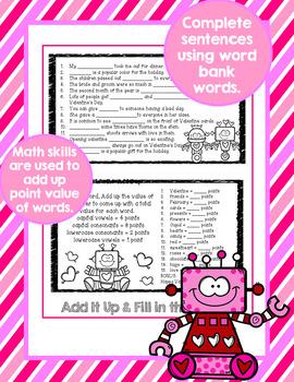Word Work Valentines Activities Flip Book 1st 2nd 3rd Grade