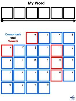 Word Work Velcro Mat