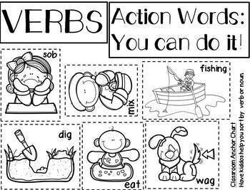 Word Work: ANIMALS Theme: Phonics, Verbs, Nouns, Handwriting & More