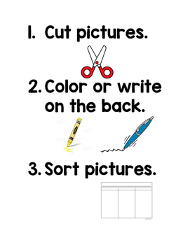 Word Work Visual Directions